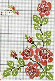 The most beautiful cross-stitch pattern - Knitting, Crochet Love Cross Stitch Rose, Cross Stitch Borders, Cross Stitch Baby, Cross Stitch Flowers, Cross Stitch Charts, Cross Stitch Designs, Cross Stitching, Cross Stitch Embroidery, Cross Stitch Patterns