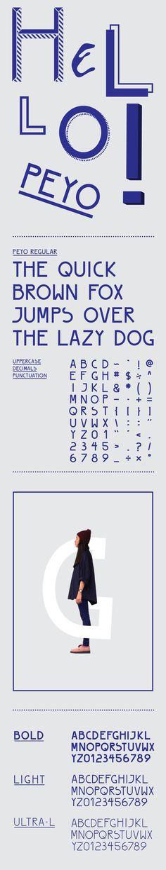 PEYO Regular - Free Font on Behance