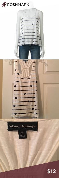 Mason and Mackenzie nautical print racer back tank Super cute tank new without tags. Excellent condition, no flaws. Navy blue with gold flecks. No Trades. Offers welcome. ✌️☺️ Mason & Mackenzie Tops Tank Tops