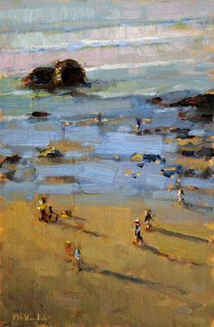Jim McVicker Paintings: 'Trinidad California, Paintings from the North Coast', Low Tide Landscape Art, Landscape Paintings, Oil Paintings, Landscapes, Beach Paintings, Costa, Klimt, Trinidad California, Beach Art