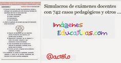 Simulacros de exámenes docentes con 742 casos pedagógicos