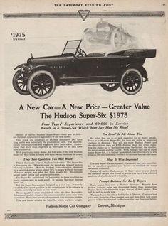 1919 Hudson Motor Car Detroit MI-Michigan Vintage Super-Six Open Automobile Ad