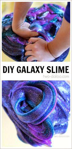 Night Sky Activities for Preschool: Galaxy Slime