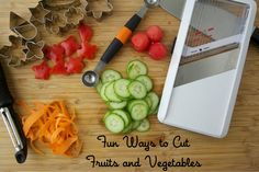 We love these fun ways to cut vegetables for school lunch from Weelicious. Sometimes a simple carrot peeler is a parent's best friend!