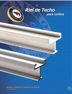 Riel De Techo Para Cortina En Aluminio