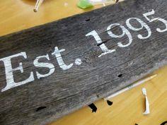 Diy Stenciled Wood Sign