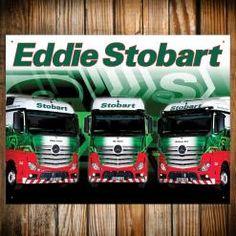 EDDIE STOBART TRIO METAL SIGN