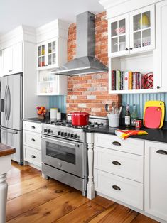 Modern updates in a historic home. #kitchen #hgtvmagazine http://www.hgtv.com/design/rooms/kitchens/the-new-170-year-old-kitchen?soc=pinterest