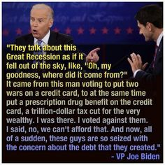 Paul Ryan is still a punk, still a liar and still full of malarkey. Joe nailed him in Republican House Speaker Paul Ryan is in our face every day telling lies and wearing that same smirk. Back in our beloved Joe Biden wiped the smug. Be My Hero, Religion, Great Recession, Things To Come, Good Things, Lol, Thats The Way, Republican Party, Republican Presidents