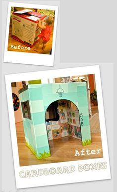 { DIY Educational Toys Using Cardboard Boxes } 12 Cardboard Box Project for Kids #Upcycling  #TickledMummyClub #DIYEducationalToys  #CardboardBoxCrafts