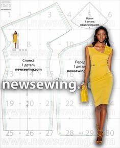 Un vestido con escote asimétrico, original, cómodo y fácil de llevar en cualquier ocasión. Descarga el patrón gratuito