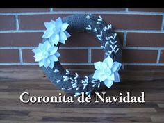 #DIY -Corona de Navidad de yute #DIY - Jute Christmas Ring - YouTube
