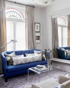 blue sofa.  mirror is my fave.