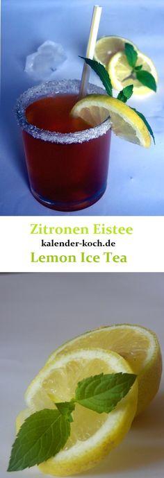 Zitroneneistee ist die perfekte Abkühlung für die heißen Sommertage. Verfeinert und abgeschmeckt mit frischer Minze ein absoluter Sommermuss!! Prost!