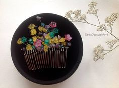 Multicolor hair jewelry floral hair combs decorative hair