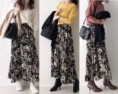 Floral Skirt Outfits, Modest Outfits, My Outfit, Kimono Top, Fashion Outfits, Casual, Skirts, Summer, Tops