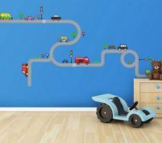 Transport and Road. Het verkeer in jouw kamer met deze muurstickerset ...