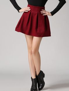 Shop Red High Waist Woolen Skirt online. SheIn offers Red High Waist Woolen Skirt & more to fit your fashionable needs.