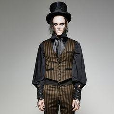 Punk Rave Gentleman gilet Bronze Gothique Art-gilet cuir steampunk Waistcoat