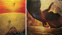 Daniele Montis | Даниэль Монтис (род. 1960) Icaro | Икар --------------- Galileo Chini | Галилео Чини (1873-1956) Icare | Икар. 1907 Частная коллекция