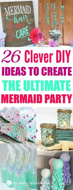 26 DIY Under the Sea Mermaid Party Ideas Who doesn't love mermaids? This is genius! So perfect for kids birthday parties! Under the sea and the little mermaid as a party is awesome! So many DIY ideas that are easy and cheap. Which is even better since we Birthday Diy, 1st Birthday Parties, Girl Birthday, Birthday Ideas, Birthday Activities, Turtle Birthday, Turtle Party, Carnival Birthday, Little Mermaid Birthday