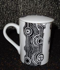 tasse pour tisane peinte à la main : Vaisselle, verres par pigments-et-kaolin