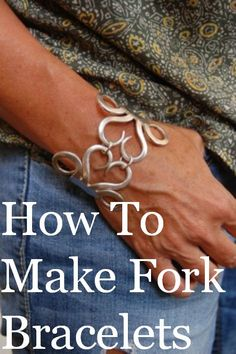 Join professional jewelry maker Maryann Cherubino as she shows you the EXACT procedure she uses to make beautiful fork bracelets and necklaces. Silverware Jewelry, Spoon Jewelry, Metal Jewelry, Beaded Jewelry, Cutlery, Jewelry Rings, Spoon Rings, Jewelry Quotes, Hand Jewelry