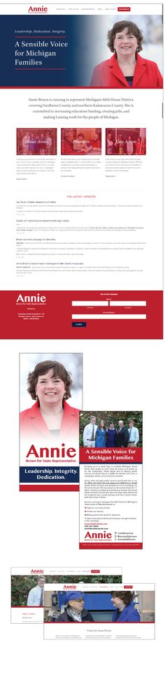 Check out the website & mail pieces we made for Annie Brown!