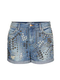 Fall Preview Studs: Topshop Moto Mix Stud Boy Shorts