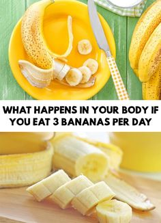 Amazing! If you are a fan of bananas it's time to find out What Happens In Your Body If You Eat 3 Bananas Per Day!