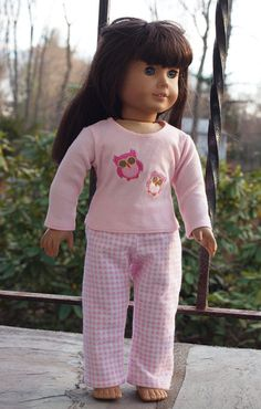 18 Doll Clothes  American Girl  Doll  Pajamas by AbygailElizabeth, $10.25