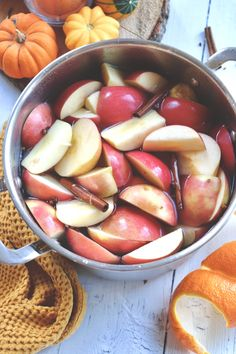 How to Make Apple Cider - Cooking with -That Certain Touch Iced Tea, Apple Cider, Smoothies, Beverages, Peach, Make It Yourself, Fruit, Cooking, How To Make