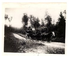 Lon Merritt on Old Vermillion Trail, just north of Duluth. (1892) Collections Online : Minnesota Historical Society