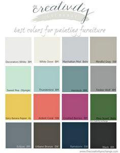 16 of the best paint colors for painting furniture pick a paint rh pinterest com Paint Colors for Antique Furniture T Blue for Furniture Painting