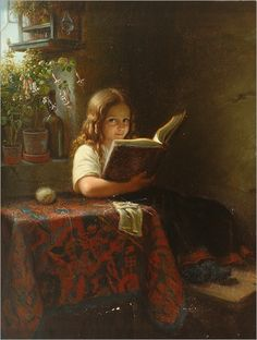 Reading and Books in Art: Painting by Johann Georg Meyer Von Bremen