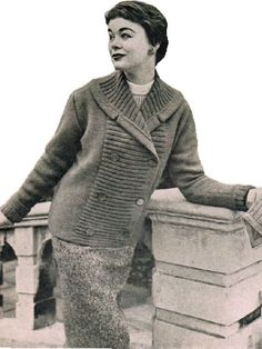 Fantastic 50's double breasted cardigan jacket