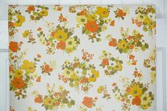 Retro Wallpaper by the Yard 70s Vintage Wallpaper 1970s