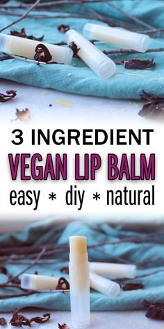 Easy DIY Skincare Looking for an easy DIY Vegan Lip Balm Recipe? This is the ONLY lip balm recipe yo Organic Lip Balm, Natural Lip Balm, Natural Soaps, Trash To Couture, Beeswax Recipes, Lipbalm, Shea Butter Lip Balm, Body Butter, Belleza Diy