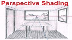 Linear Perspective Drawing Lesson 6/6 - One Point Perspective Room Drawi...