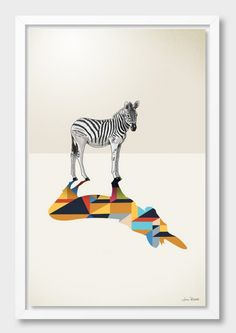 """Walking Shadow, Zebra"", by Jason Ratliff (USA) Order an Acrylic Glass Print, starting at $79: http://cur.im/1xUv7xD // *Don"