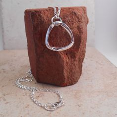 Sterling Silver Mobius Necklace