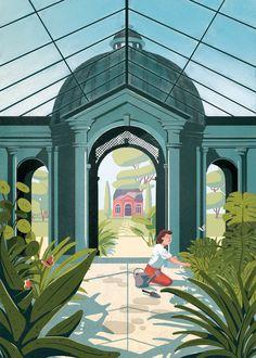 FagoStudio présente Pavillon Gazon, une série d'illustrations qui dévoile ses jardins, ces espaces clos laissant place à un imaginaire infini. Une nature sauvage et domestique, sujet riche en poésie et haut en couleur.