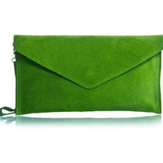 57599a6c794a8 Pretty Lavish Lime Green Suede Envelope Clutch Bag ( 44) ❤ liked on Polyvore  featuring