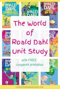 The World of Roald Dahl Unit Study Books roald dahl books Roald Dahl Books, Book Authors, Roald Dahl Activities, Class Activities, Author Studies, Unit Studies, Homeschool Books, Homeschool Curriculum, Homeschooling