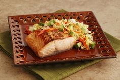 Glazed Salmon with California Avocado Slaw | California Avocado Commission