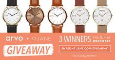Jane.com + ARVO His & Hers Watch Giveaway!