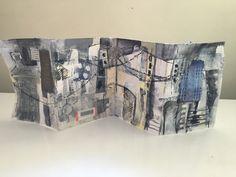 Concertina sketchbooks with Karen Stamper Book Journal, Art Journals, Urban Stories, Concertina Book, Picasso Art, Urban Architecture, Visual Diary, Handmade Books, New Theme
