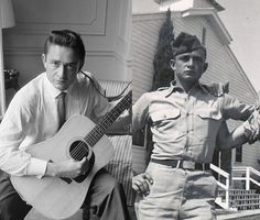 """Johnny Cash - enlisted in the US Air Force on July 7, 1950. After basic training at Lackland Air Force Base and technical training at Brooks Air Force Base, both in San Antonio, TX, Cash was assigned to a U.S. Air Force Security Service unit, assigned as a Morse Code Intercept Operator for Soviet Army transmissions at Landsberg, Germany where he created his first band named """" The Landsberg Barbarians."""" He was the first radio operator to pick up the news of the death of Joseph Stalin."""