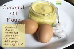 The BEST homemade mayo, made with coconut oil!