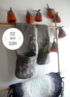 Felt Meets Cloth Home Collection - wall hangings, wall pockets, fairy lights: